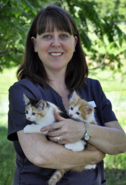 Lori with kittens